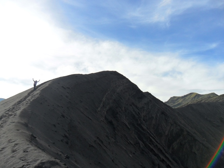 11 Walking to the top of Mt. Bromo