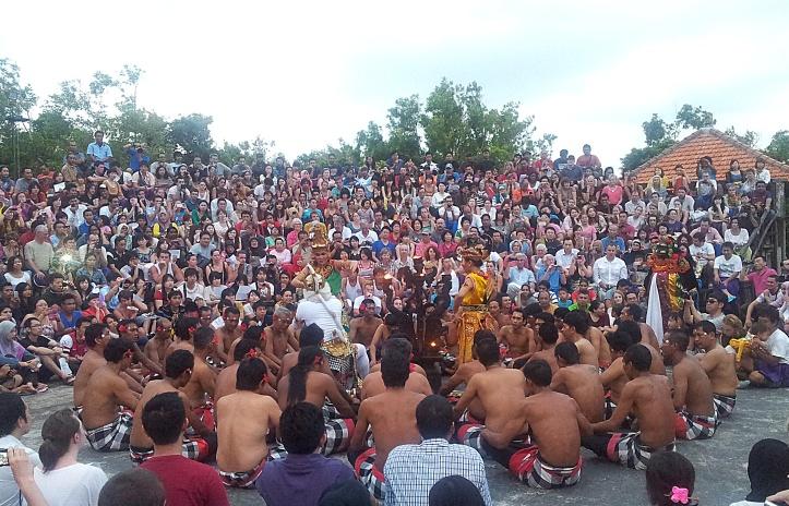 Hanuman and Lord Ram rescuing Sita, Kecak Dance, Uluwatu
