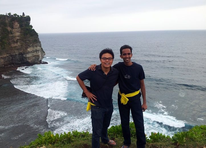 Victor and me, Uluwatu, Indonesia