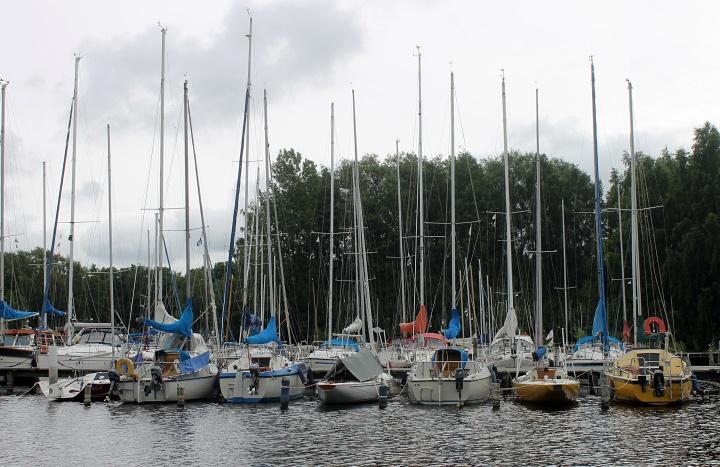 Boats at Skarholmen, Lake Ekoln, Uppsala