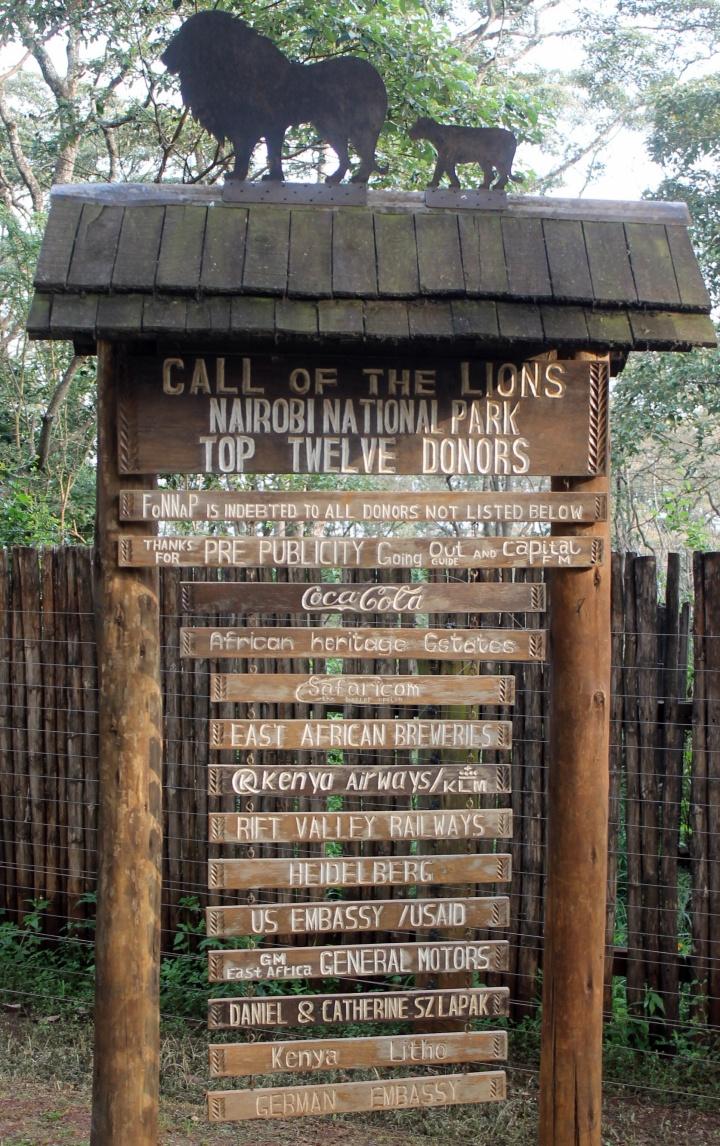 Entrance to Nairobi Animal Orphanage