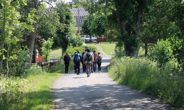 Start of the Roslagsleden 11 hike