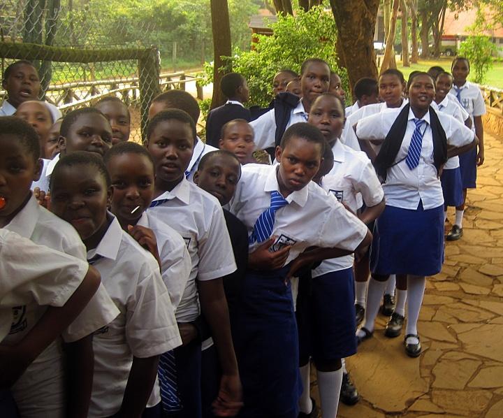 Kids at Nairobi Animal Orphanage
