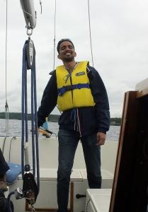 Me Sailing on Lake Ekoln, Uppsala