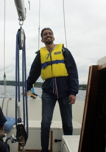 Me Sailing on Lake Ekoln, Uppsala