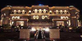 Emirates palace - at night