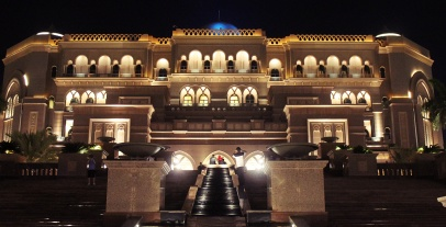 Emirates palace - at night