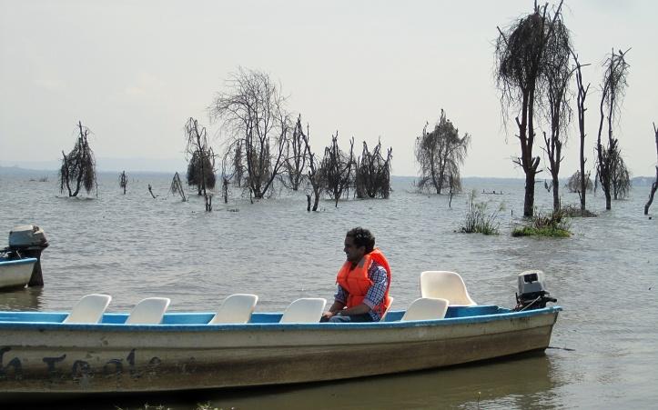 On the boat, Lake Naivasha