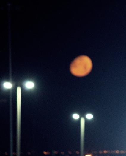 Red moon goodbye - Abu Dhabi