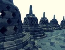 Stupas in Borobudur